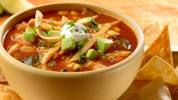Chicken & Roasted Vegetable Tortilla Soup