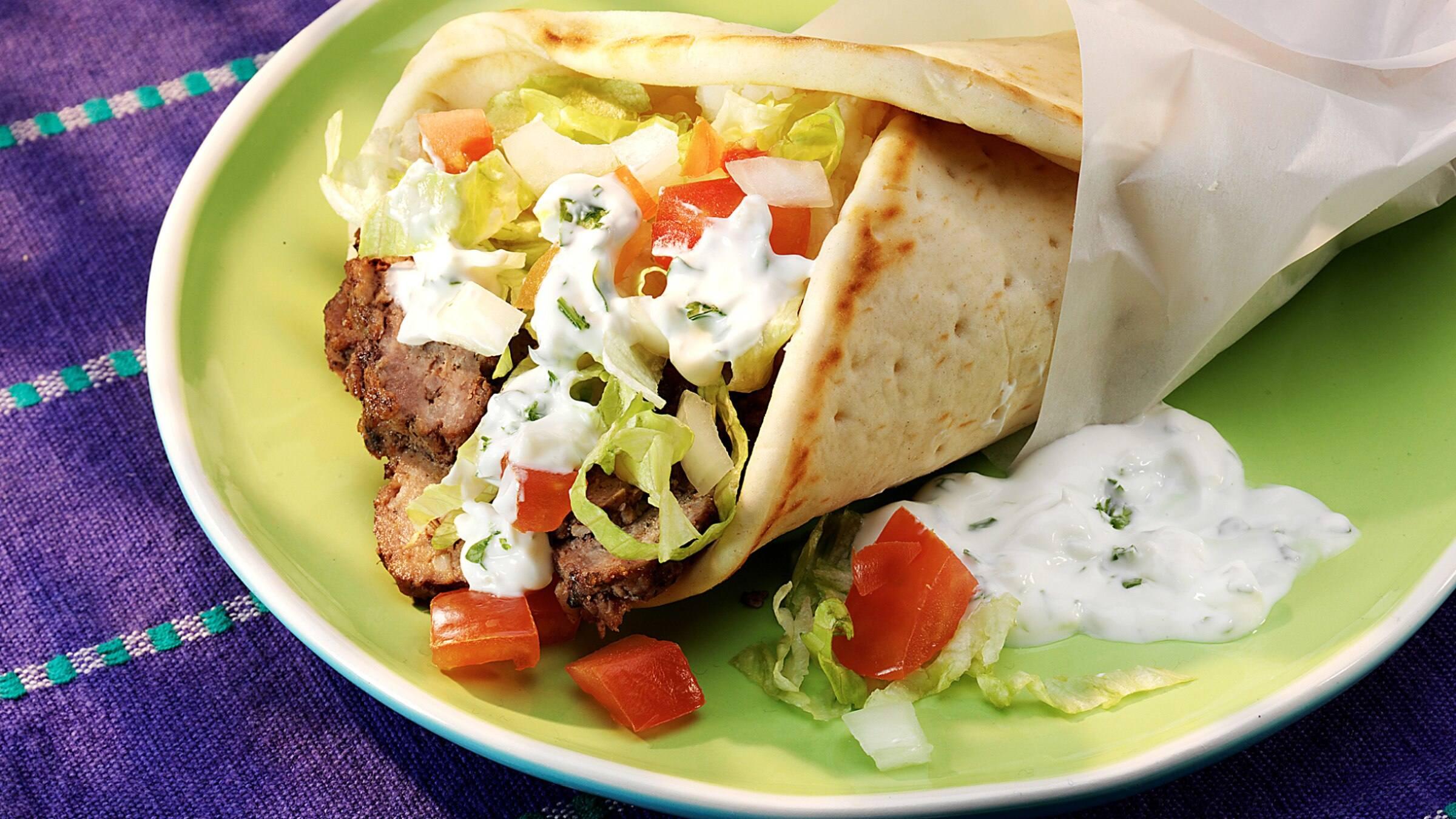 Beef Gyros with Tzatziki Sauce Recipe