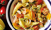 Bertollini Pasta With Seafood and Courgettes