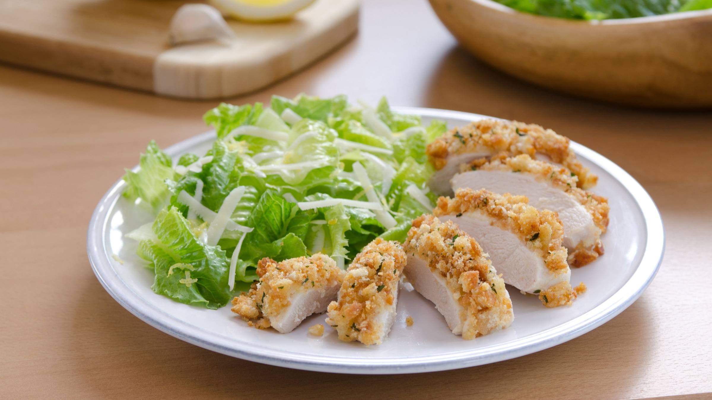 Caesar-Crusted Chicken Recipe