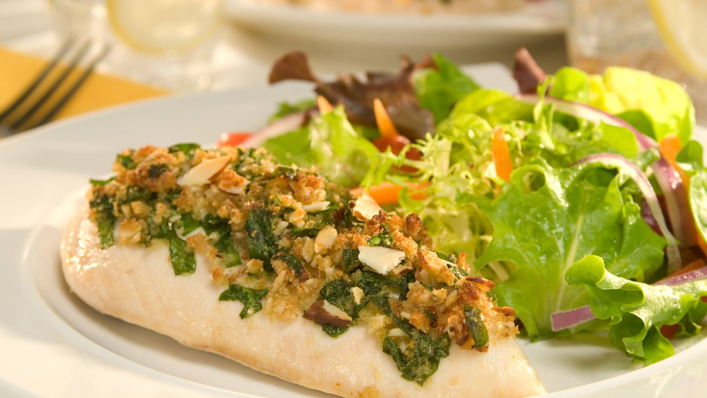 Spinach & Almond-Crusted Chicken
