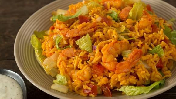 Buffalo Shrimp Ranch Salad