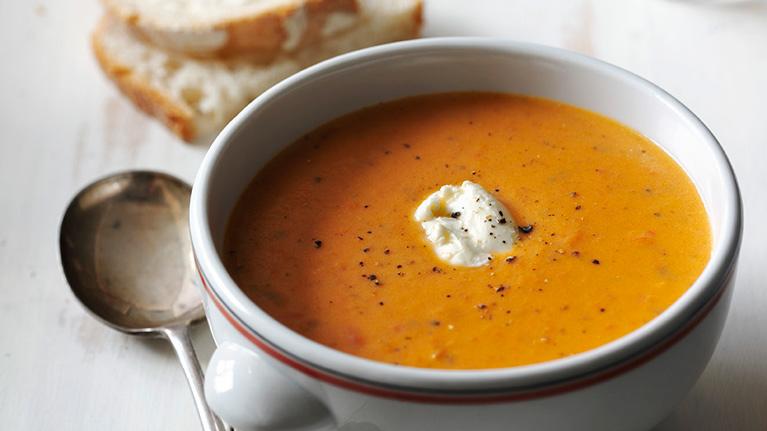 Decadent Tomato & Mascarpone Soup