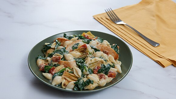 Spinach Artichoke Chicken & Pasta