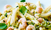 Casarecce with Courgettes and Prawns