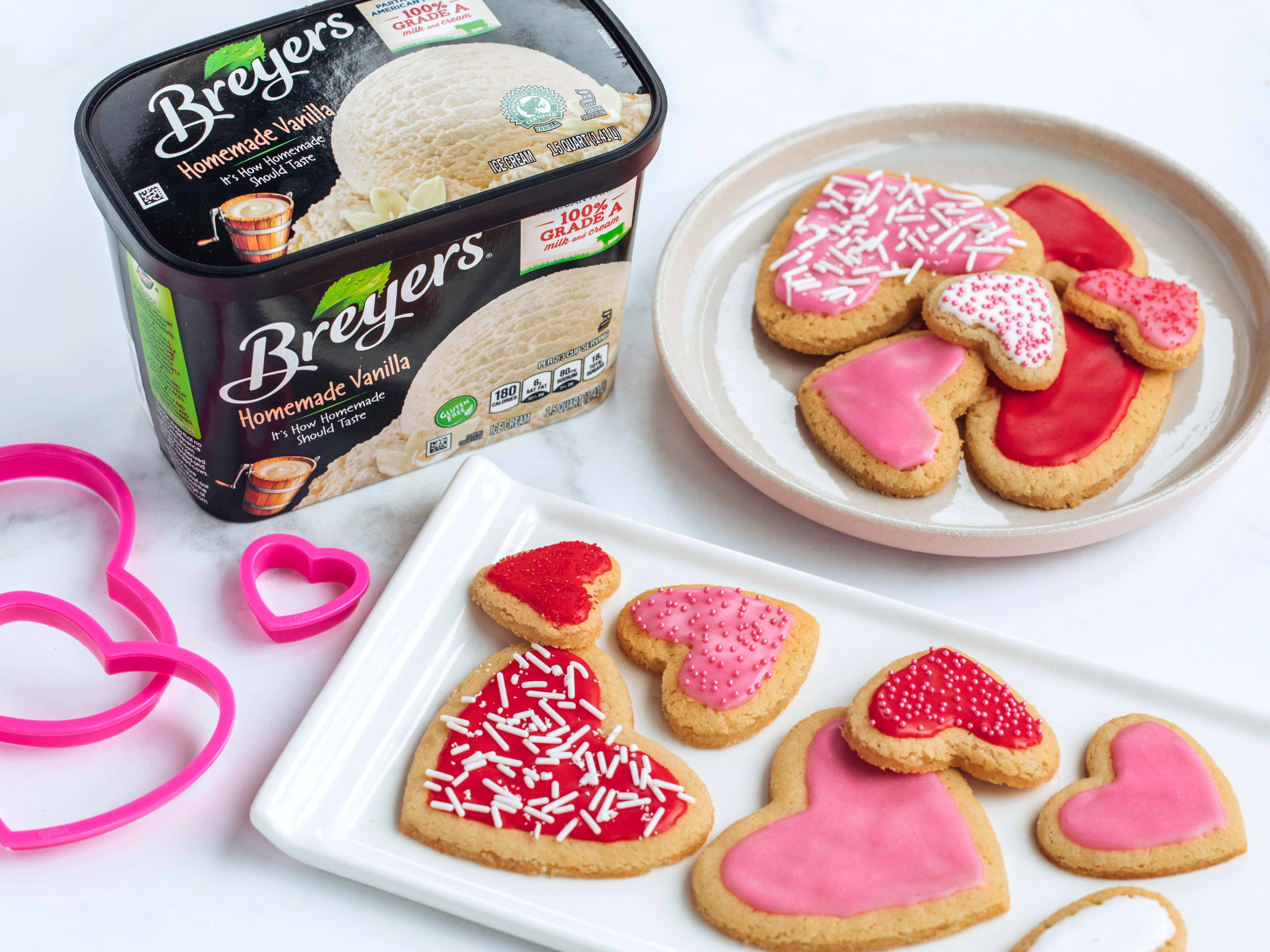 Valentine's Day Ice Cream Sugar Cookies Recipe
