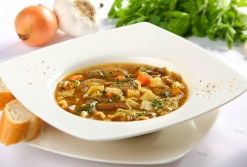 Knorr - Suppe mit Austernpilzen und Kartoffeln
