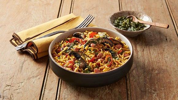 Chimichurri Portobello Rice