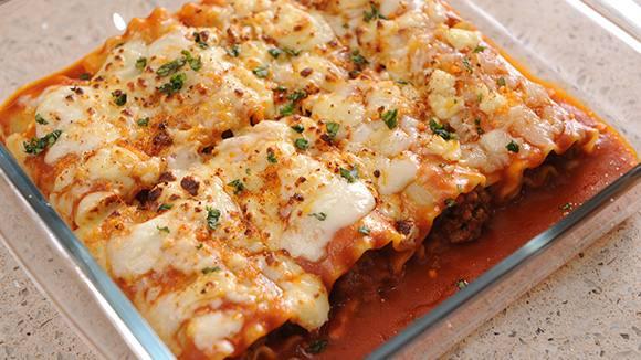 Triple Cheese Canelloni Recipe