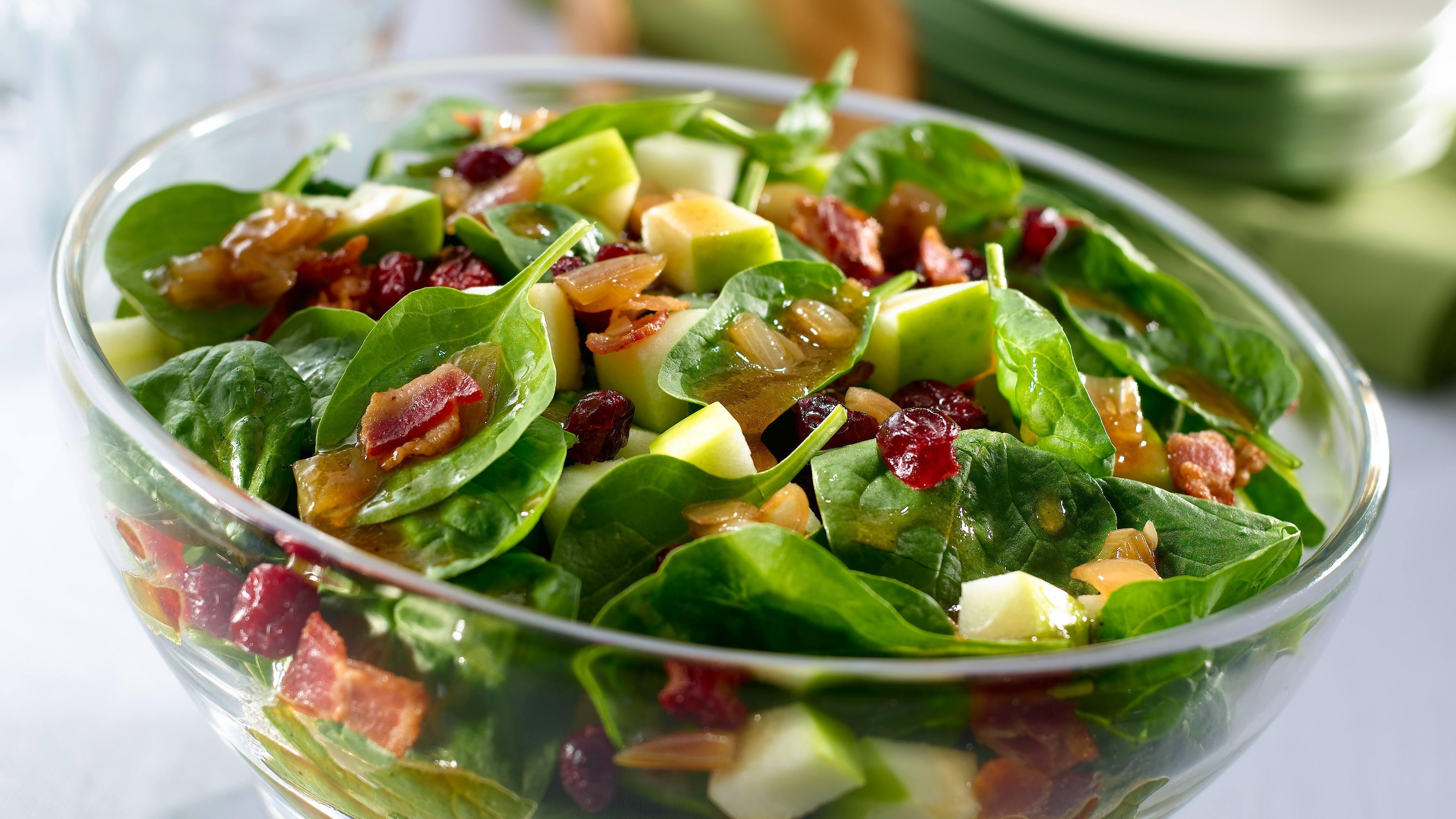 Warm Bacon & Shallot Spinach Salad
