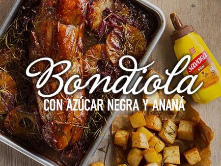 Bondiola con Azúcar Negra y Ananá