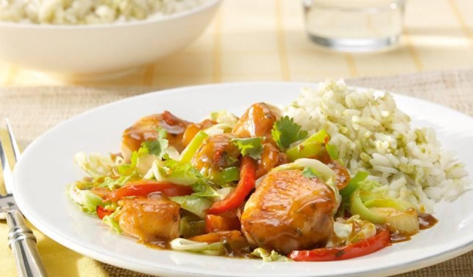 Wok met kip en groenten