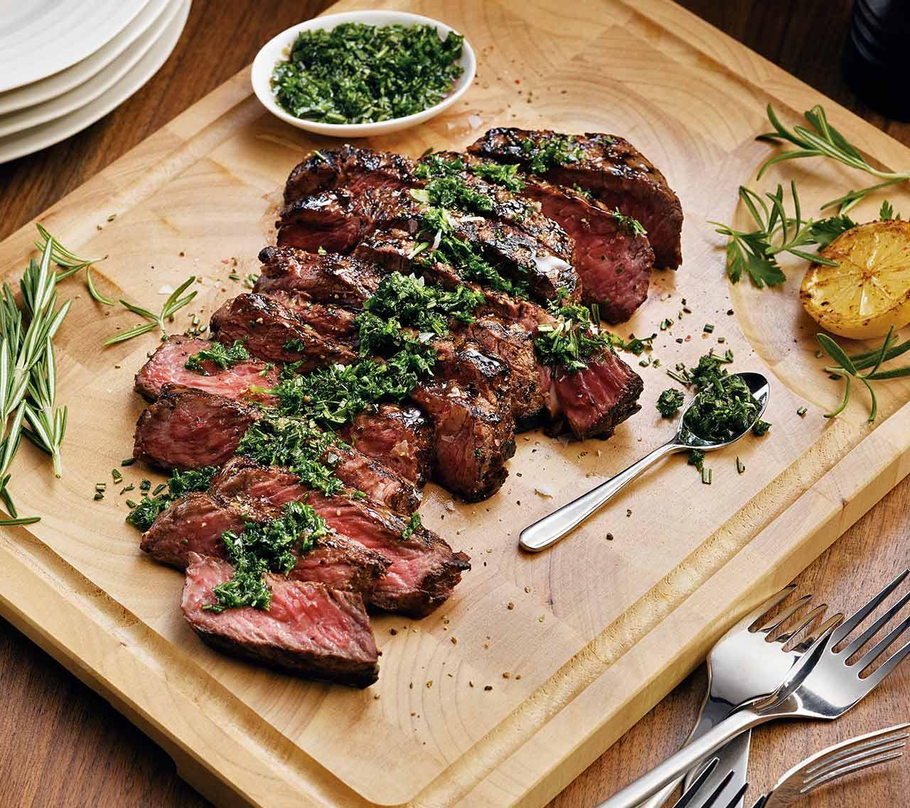 Sirloin Steak with Fresh Herbs