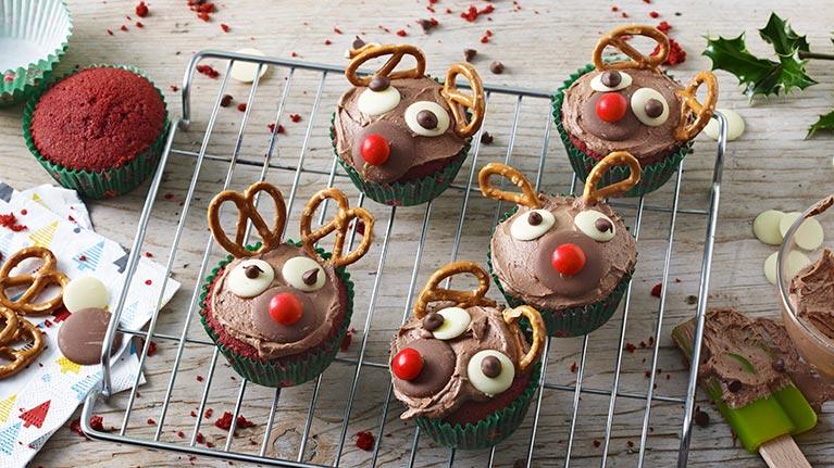 Rudolph Red Velvet Cupcakes