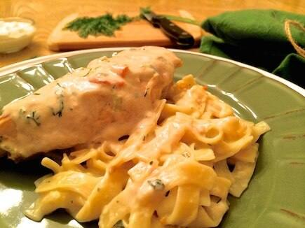 Savory Dill Chicken with Pasta