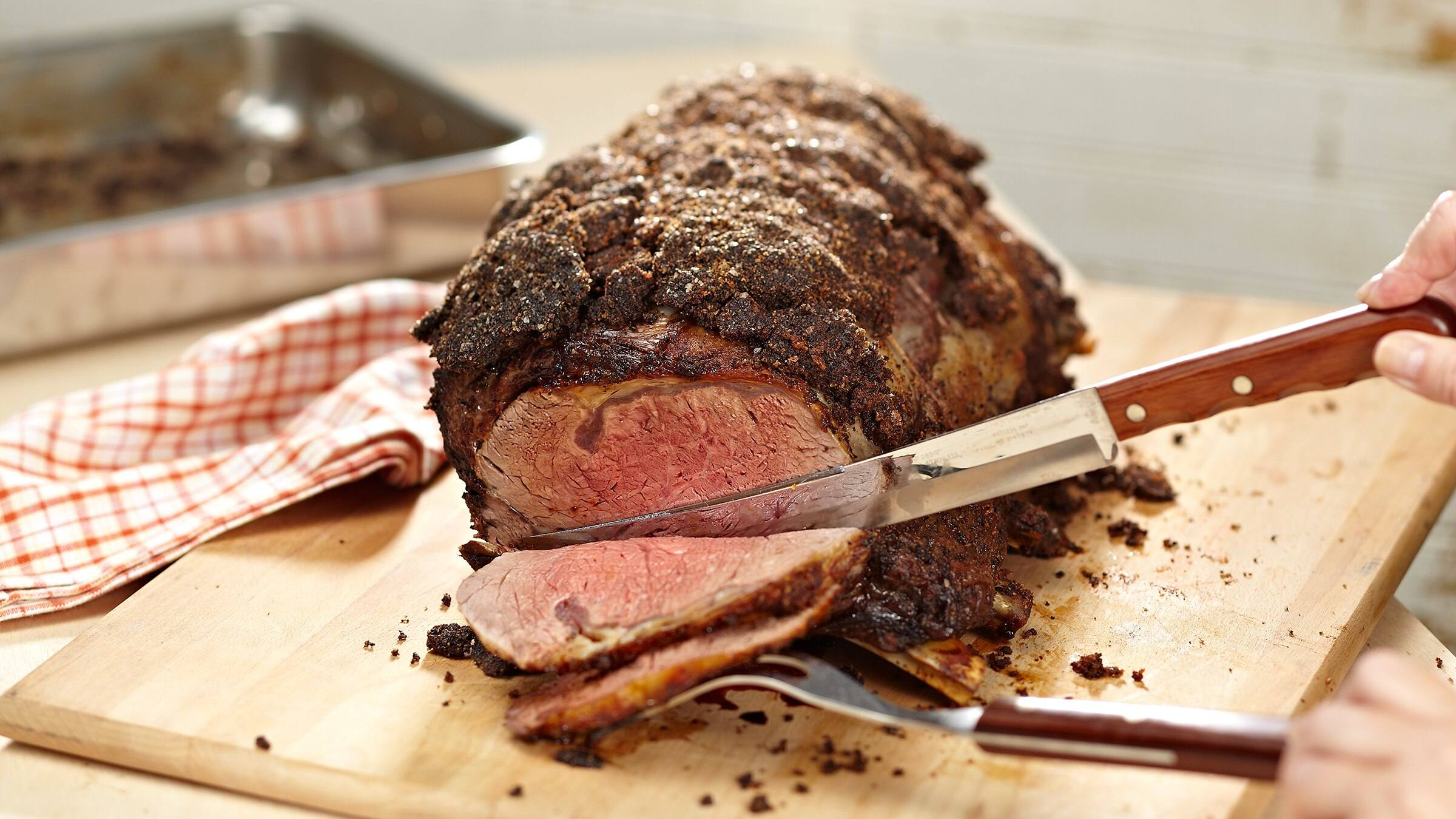 Parmesan Crusted Rib Roast