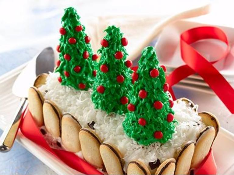 Pastel helado mentolado de Navidad