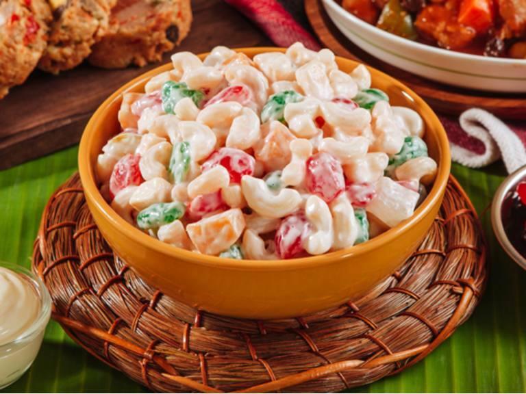 Sweet Macaroni Salad with Kaong
