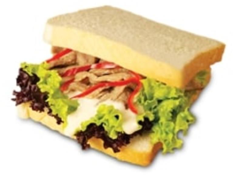Peppered Pork Sandwich