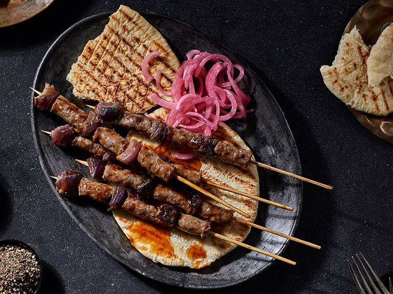 Boerewors Kebabs With Spinach And Tomato Smoor