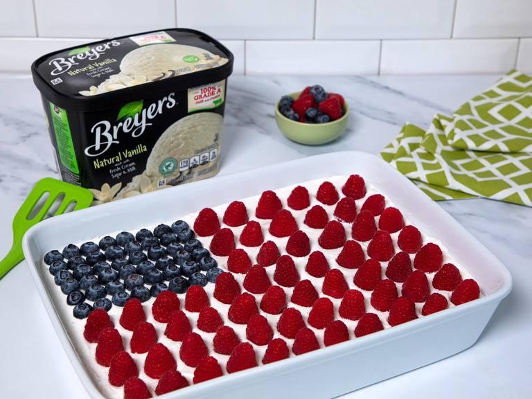 JULIO: Pastel helado de la bandera Breyers