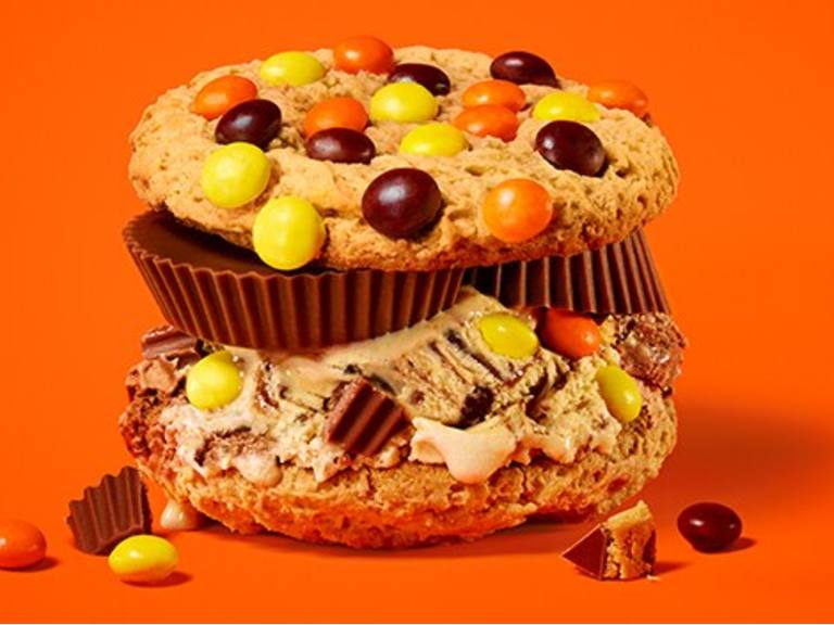Reese's Peanut Butter Cup Ridiculous  Cookie Sandwiches