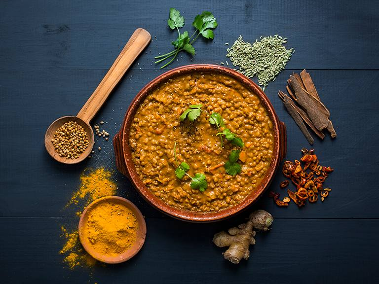 Spicy Coconut Lentil Soup