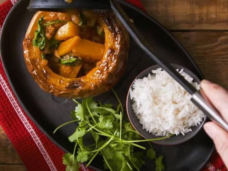 Butternut, Spinach & Lentil Curry