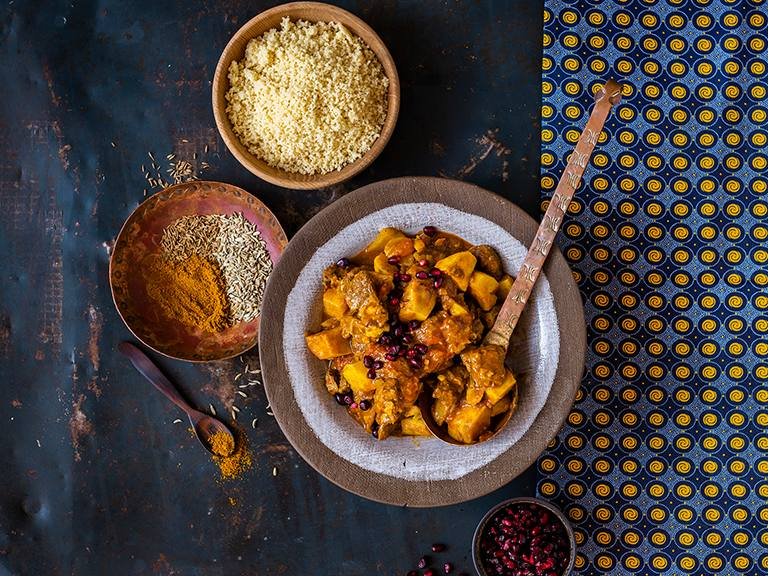 Beef and Sweet Potato Curry with Couscous