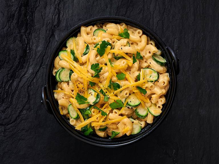 One-Pot Mac and Cheese with Baby Marrows
