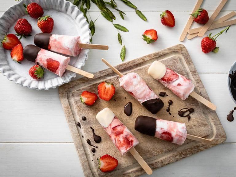 Erdbeer-Joghurt Eislollie