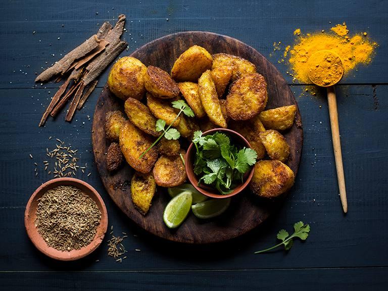 Spicy Golden Roast Potato Wedges