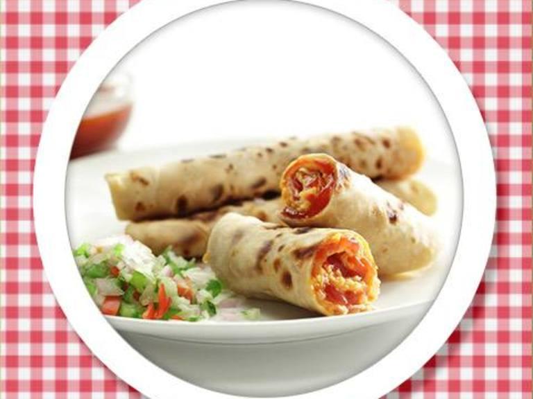 Ketchup & Cheese Stuffed Parathas