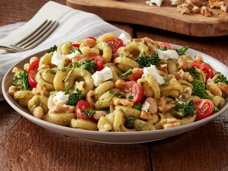 Roasted Vegetables & Fresh Pesto Penne Pasta