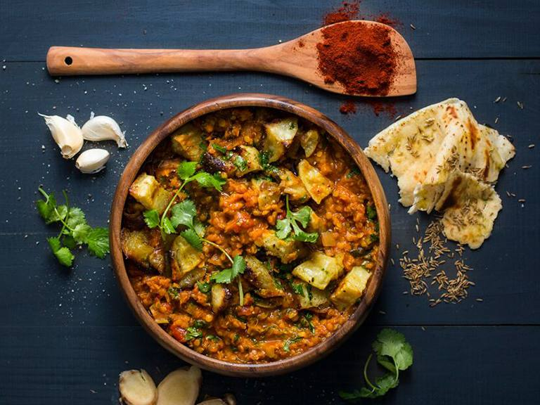 Spicy Lentil and Sweet Potato Dhal