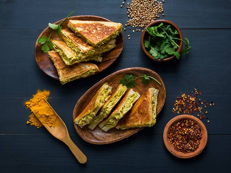 Easy Coronation Chicken Toasties