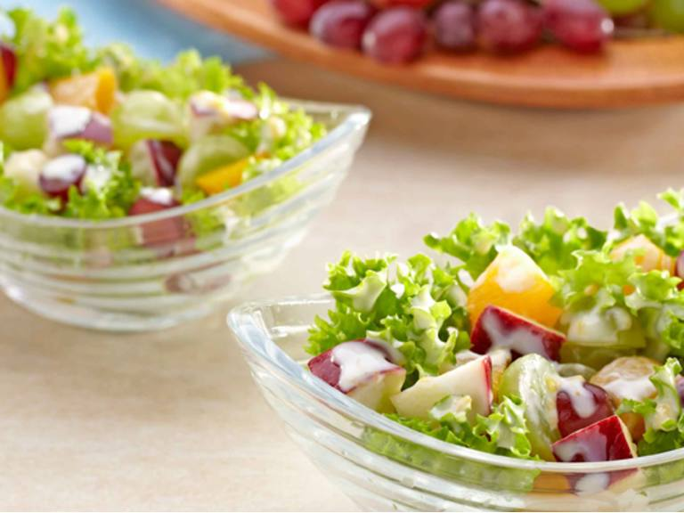 Mixed Fruits Salad in Mango-Mayo Dressing