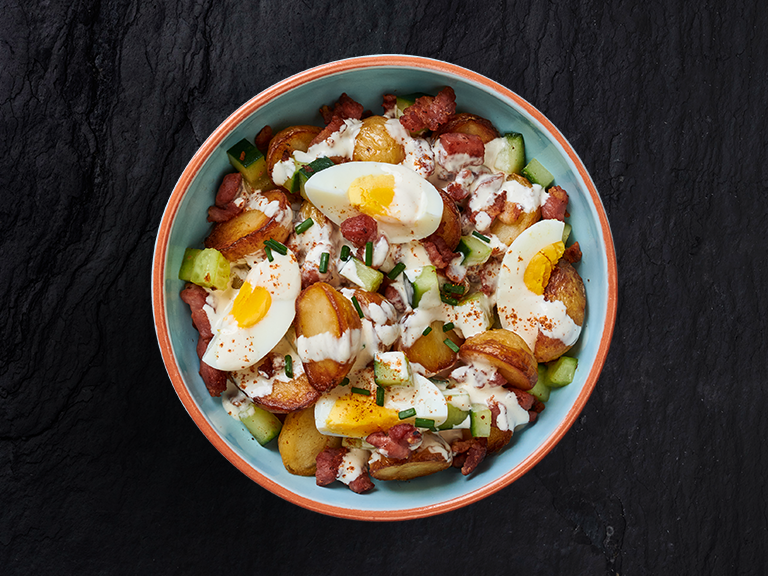 Roasted Baby Potato and Egg Salad