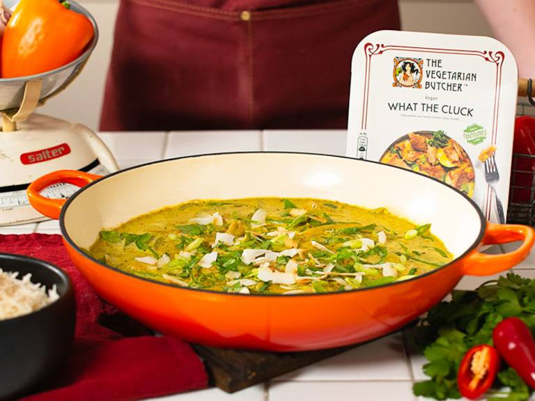 What The Cluck Vegan Green Thai Curry recipe