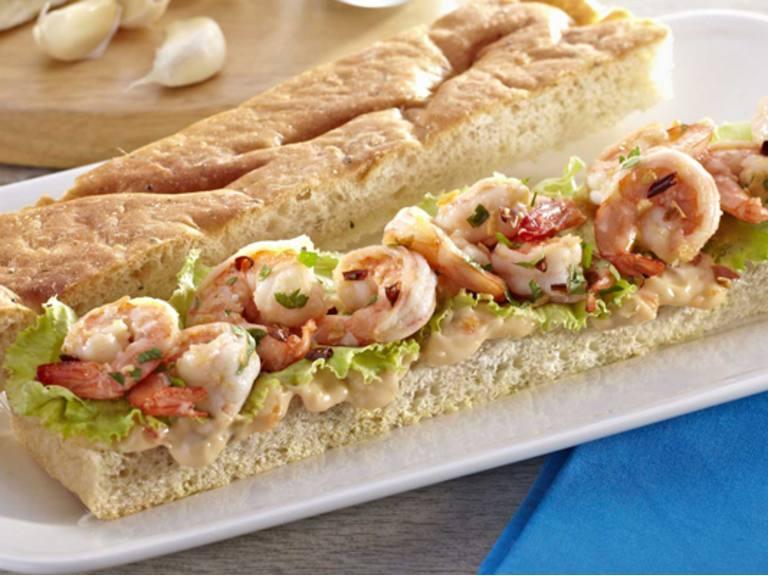 Shrimp Scampi Sandwich