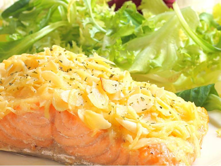 Mayo Parmesan Crusted Salmon