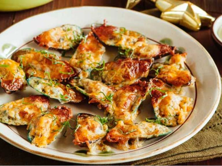 Easy Baked Mussels