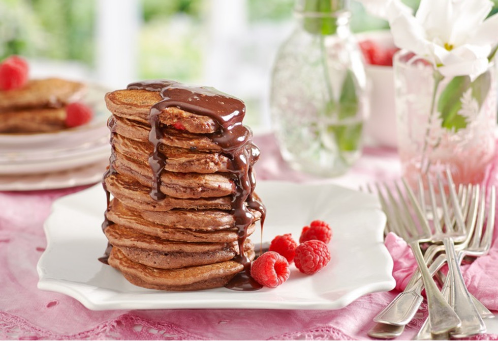 Chocolate & raspberry stack
