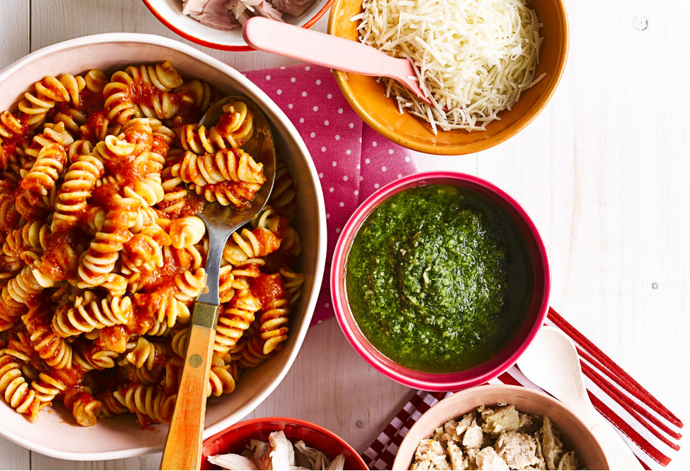 Fussy eaters top-your-own sweet tomato pasta