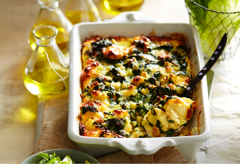 Spinach and cheese strata Recipe | Foodiful