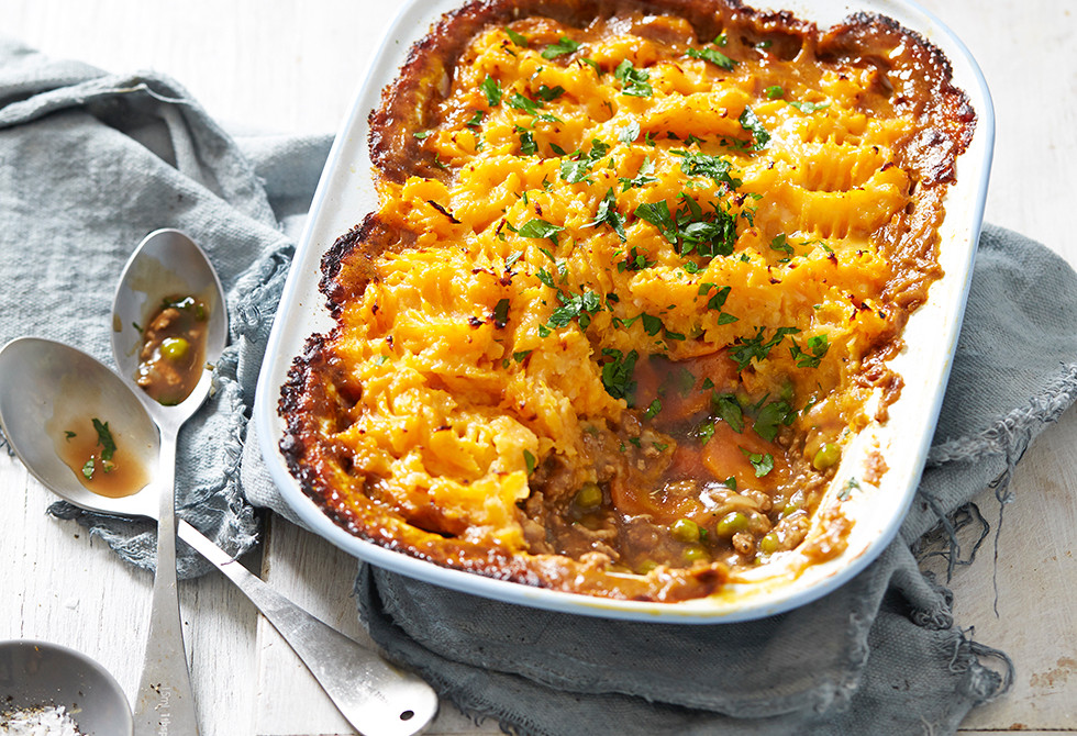 Pumpkin topped beef cottage pie
