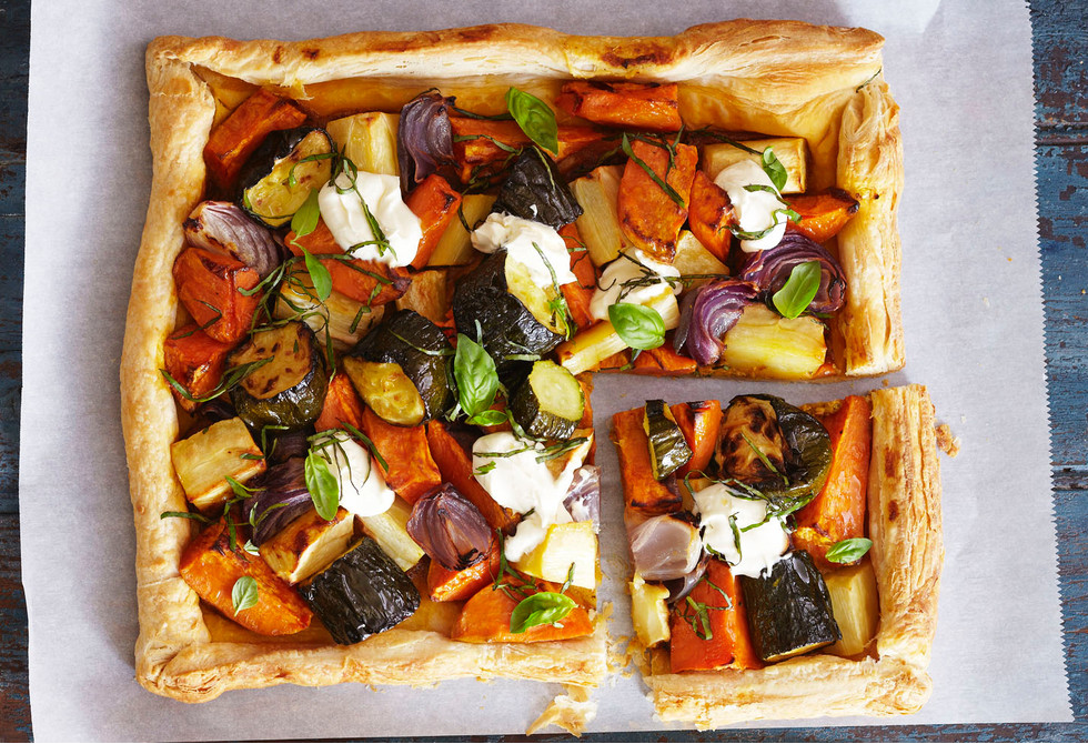 Roast vegetable tart Recipe | Foodiful