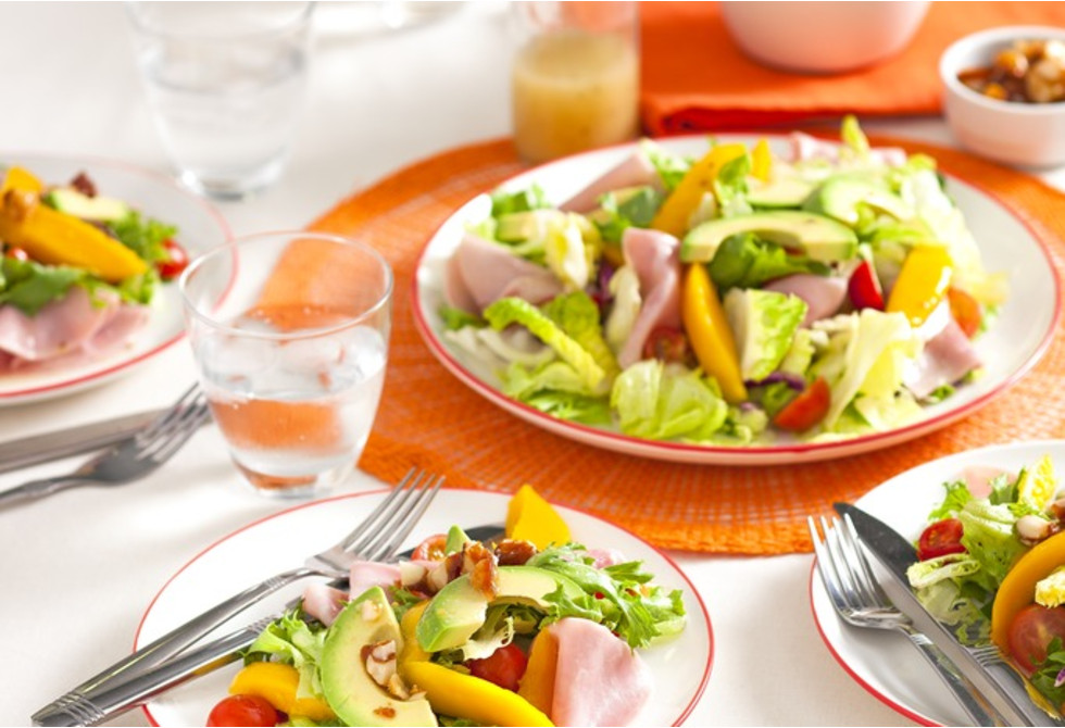 Mango & honey ham salad
