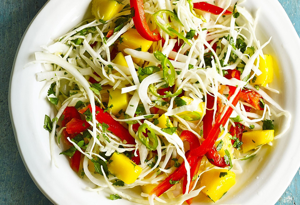 Spicy mango citrus slaw