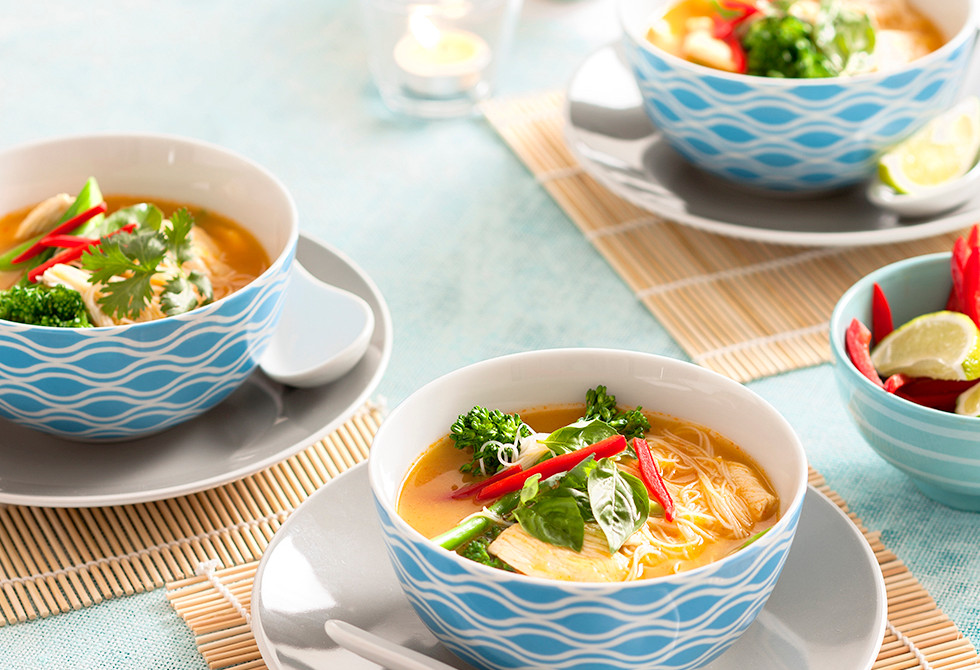 how to make chicken laksa soup
